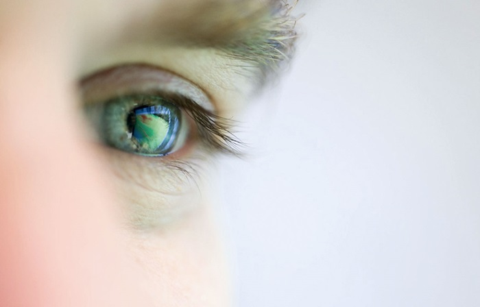 Megatrends - demand for talent - reflection in an eye